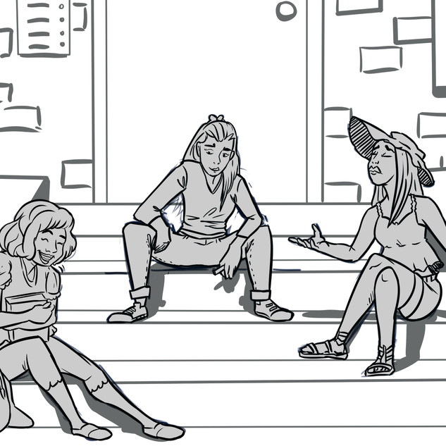 Sitting on the Porch Storyboard