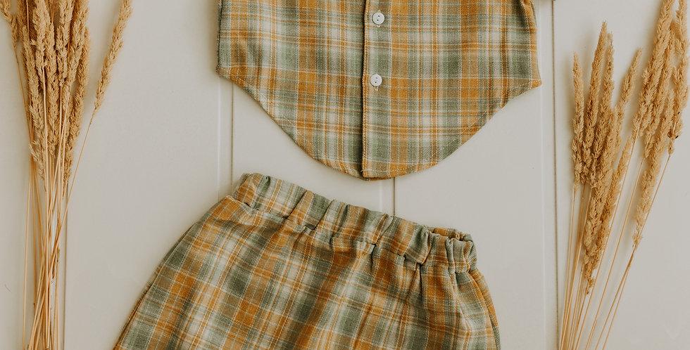 Plaid Skirt + Top