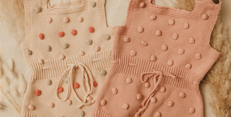 Pom-Pom Knitted Winter Romper