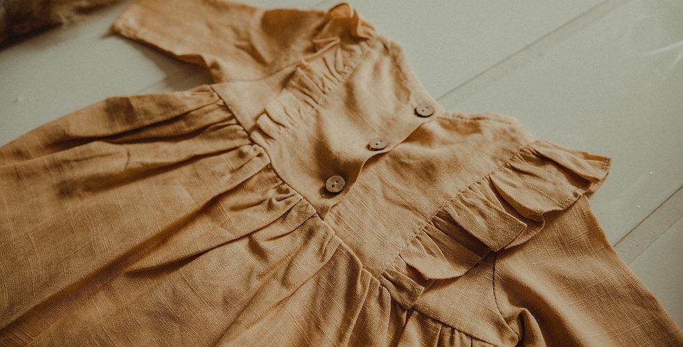 Mustard Long Sleeve Dress