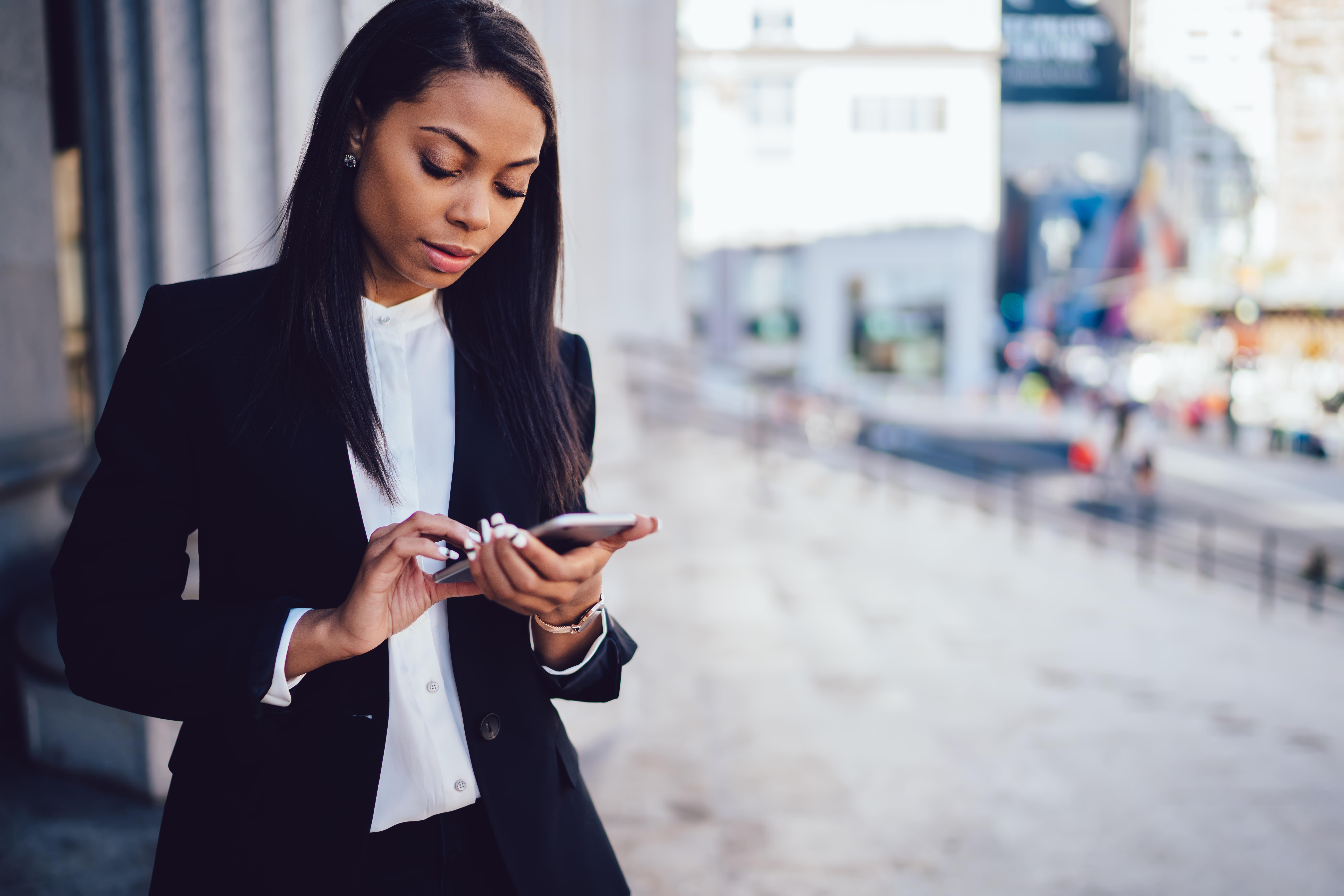 African American female entrepreneur in