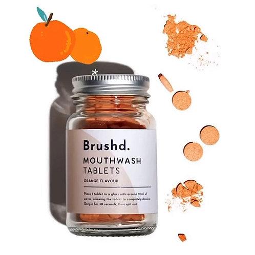 Brushd. Vegan Orange Mouthwash Tablets (120)