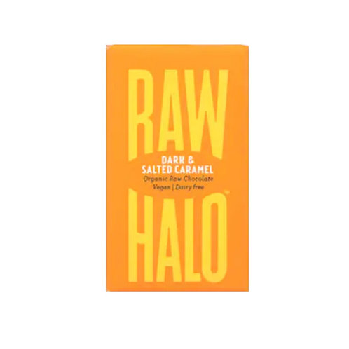 Vegan Salted Caramel Dark Chocolate Bar - Raw Halo (22g)