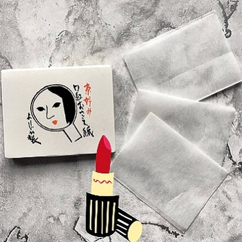 Japanese Washi Paper Lipstick Blotting Papers (Pack of 100)