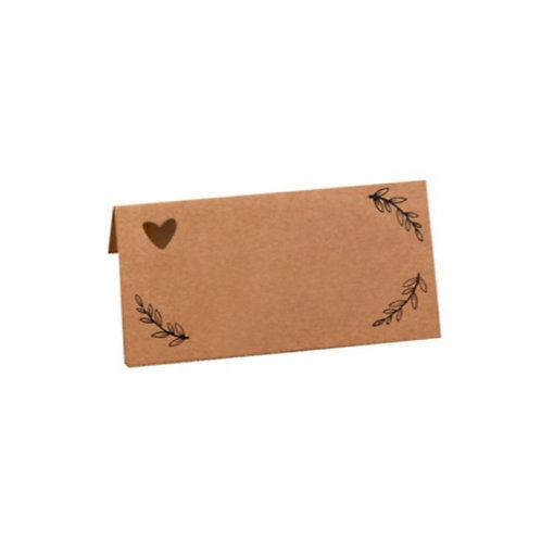 Kraft Card Table Place Cards (x10)