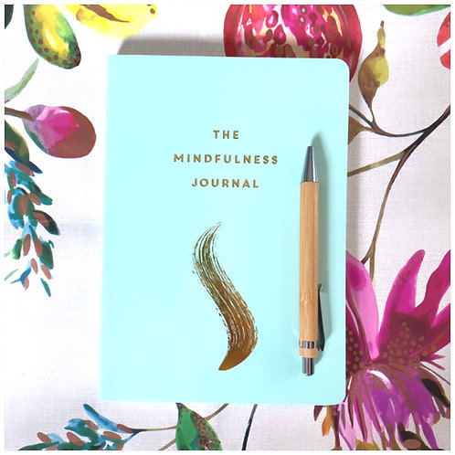 The Mindfulness Journal (Paperback) & Bamboo Ballpoint Pen