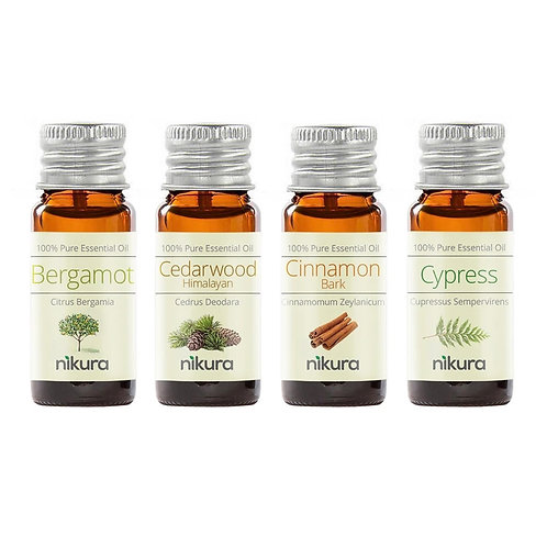 His Pure Essential Oils Gift Set (Set of 4) + Cotton Gift Bag