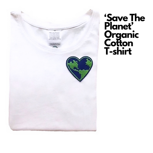 'Save The Planet' Organic Cotton T-shirt (Unisex)