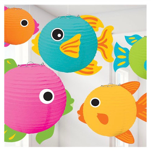 Tropical Fish Paper Lanterns (5 pk)