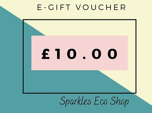 £10.00 E - Gift Voucher (No Expiry Date)
