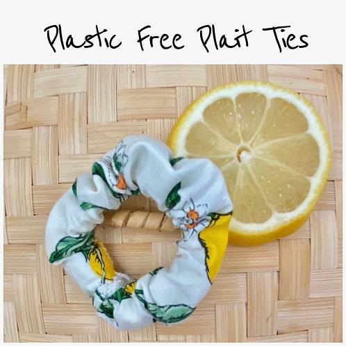 Handmade • Compostable • Zero Waste • Plait Hair Ties (Pack of 2)