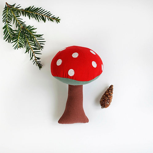 Red Toadstool Cotton Soft Toy - World Fair Trade Certified