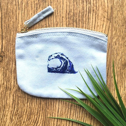 'Plastic Free For The Sea' Organic Cotton Coin Purse