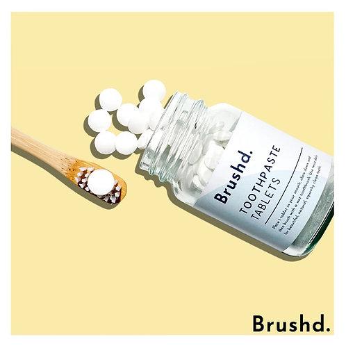 Brushd. Minty Fresh Vegan Toothpaste Tablets (Fluoride Free)