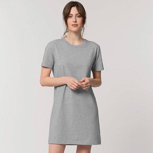 Grey Organic Cotton T-shirt Dress