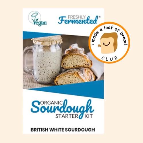 British White Organic Sourdough Starter Kit