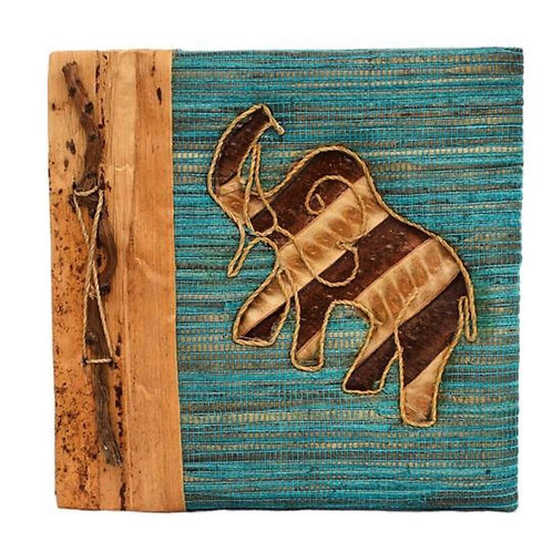 Handmade 'Save The Elephants' Fair Trade  Notebook