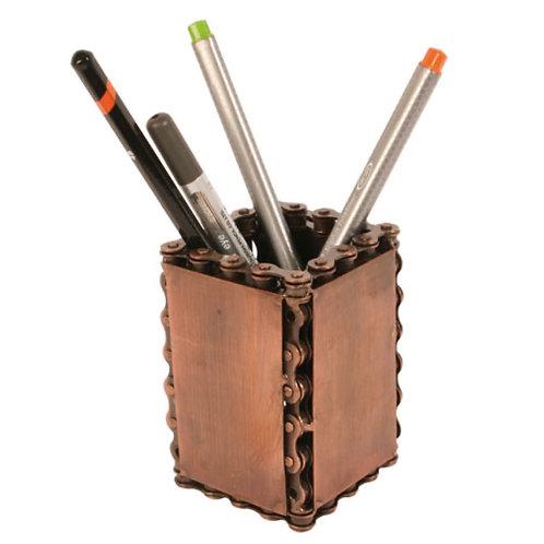 Recycled Bike Chain Pen Pot