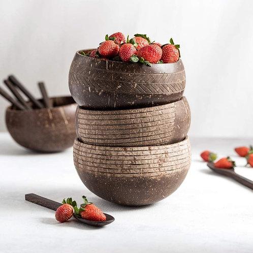 Coconut Bowl & Coconut Spoon Set (1pk)