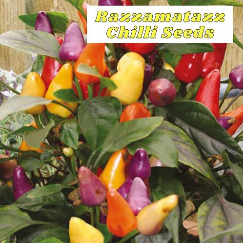 (Sow Feb - April) Rainbow Razzamatazz Chilli Seeds (Pack of 20 seeds) - Mild