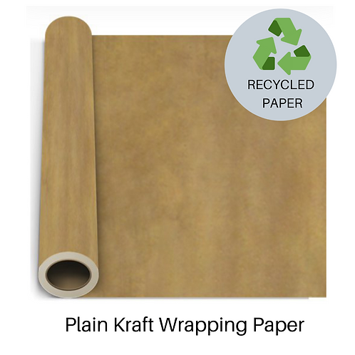 Recycled Kraft Wrapping Paper (2m roll)