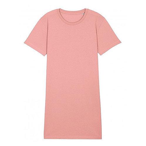 Blush Pink Organic Cotton T-shirt Dress