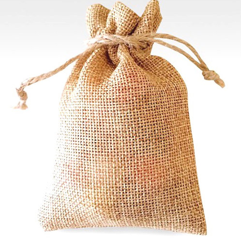 Reusable Natural Jute Medium Gift Bag & Kraft Gift Tag