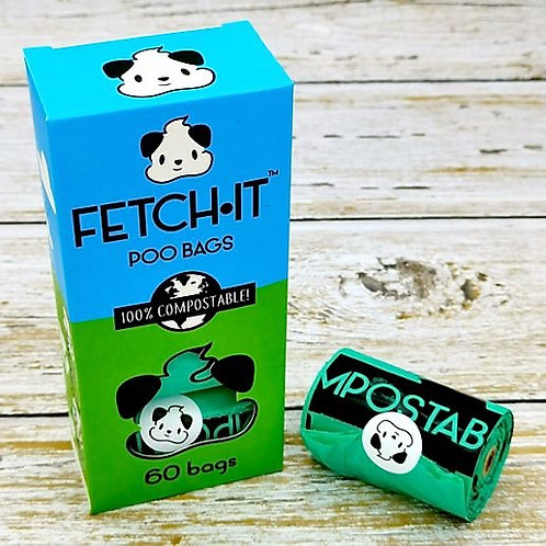 FETCH·IT Compostable Poop Bags (60 Bags)