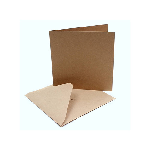 DIY Recycled kraft cards & envelope (10pk)