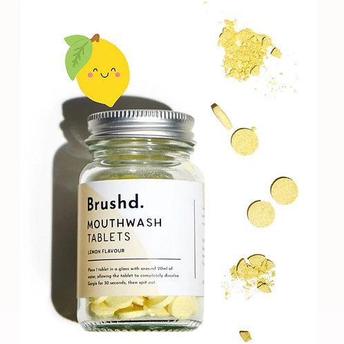 Brushd. Vegan Lemon Mouthwash Tablets (120)
