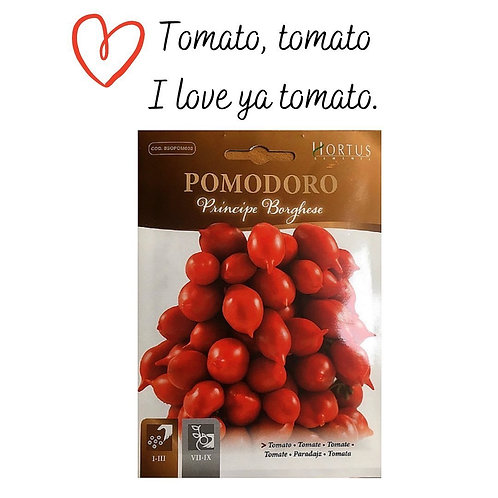 Tomato Principe Borghese Pictorial Packet (1gm)