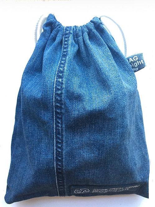 Recycled Denim Drawstring Produce Bag
