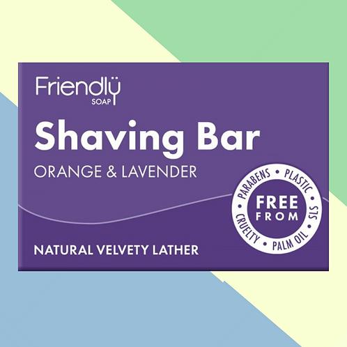 Friendly Vegan Orange & Lavender Shaving Bar