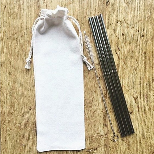 Stainless Steel Straws x 4 & Free Pouch