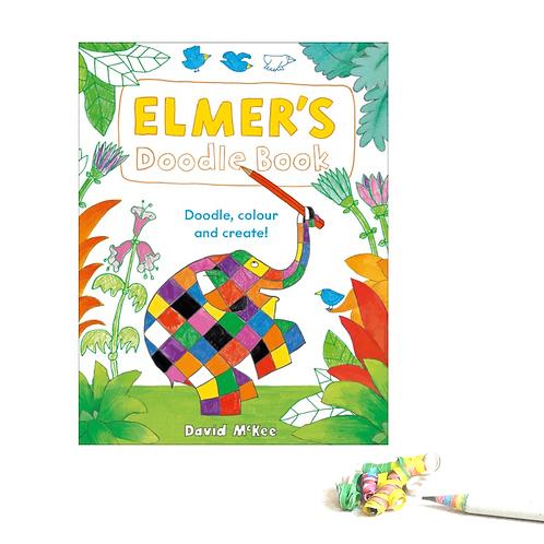 Elmer's Doodle Book - Doodle, Colour & Create
