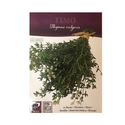 Timo English Thyme Pictorial Packet - (Approx 1050 Seeds)