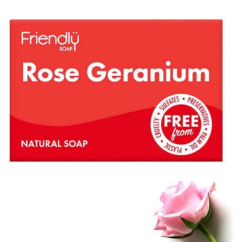 Friendly Vegan Rose Geranium Soap