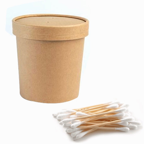 Plastic-Free Bamboo Cotton Buds (Pack of 300)
