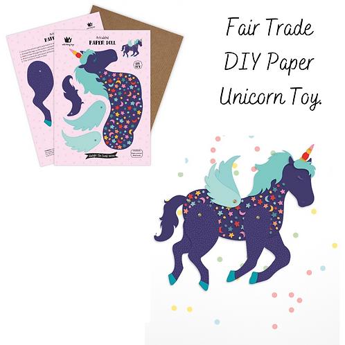 Fair Trade DIY Paper Unicorn Toy