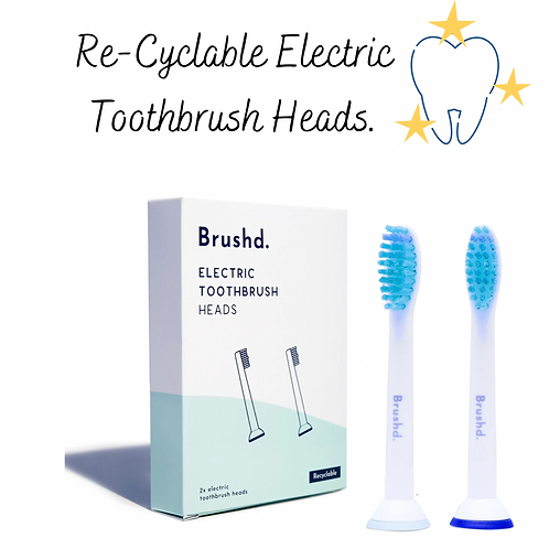 Brushd. Recyclable Toothbrush Heads - Sonicare Compatible (Pack of 2)