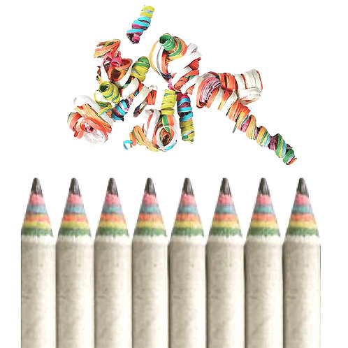 Treewise Recycled Craft Paper Pencils (Pack of 10)