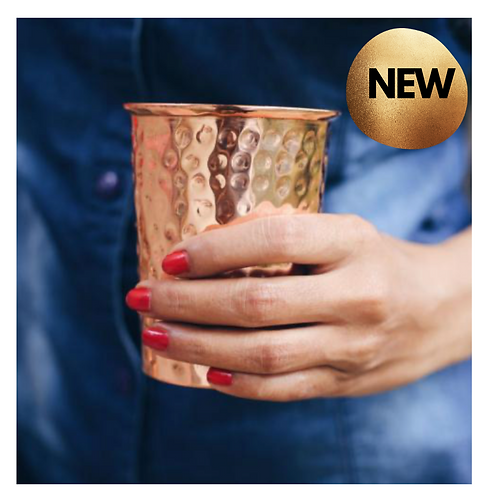 Fair Trade Handcrafted Copper Cup (300ml)
