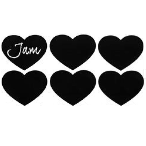 Reusable Pantry Chalkboard Self Adhesive Labels (Pack of 6)