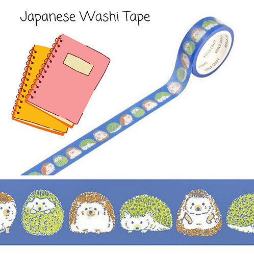 Japanese Baby Hedgehog Washi Tape