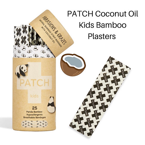 Compostable Bamboo Plasters + Coconut Oil (Plastic Free)