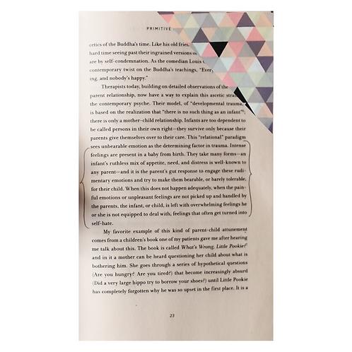 Handmade Geometric Fabric Corner Bookmark