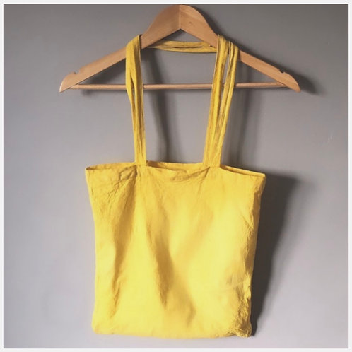 'Citrus Zesty' Hand Dyed Shopping Bag with Long Handles (Capacity 15 Litres)