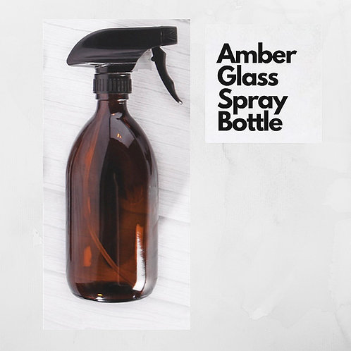 Amber Glass Trigger Spray Bottle (500ml)