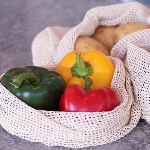 Organic Cotton Fruit & Vegetable Bags (Set of 6)
