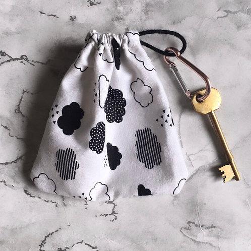 Mono Clouds Cotton Face Mask Storage Bag